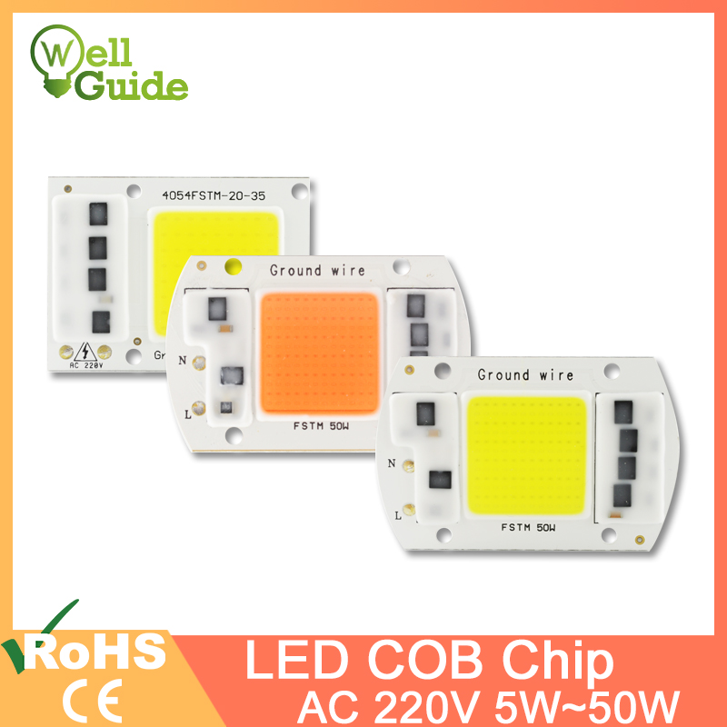 COB LED Lamp Chip 50W 30W 20W 10W 5W Smart IC Driver High Lumens For DIY Floodlight Spotlight