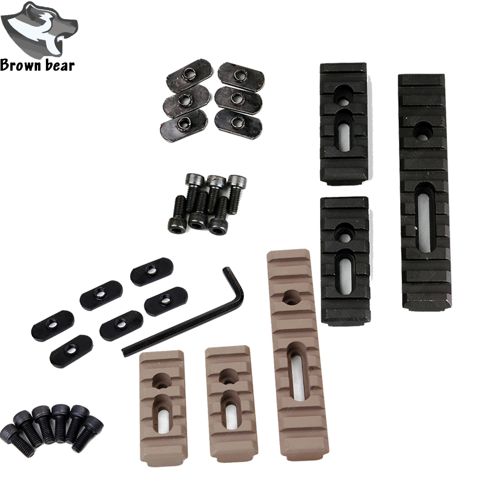 3pcs Tactical Moe Keymod Picatinny Rail Mount Set For Airsoft Air Gun <font><b>Handguard</b></font> <font><b>AR</b></font> <font><b>15</b></font> Rifle Accessory image