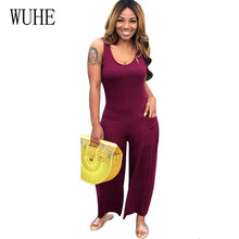 WUHE Summer Casual Two Pieces Sets Women Wide Leg Loose New Fashion Rompers Playsuits Elegant Boho Beach Jumpsuits Plus Size 3XL