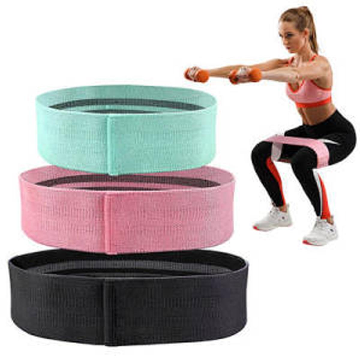 Bawełniane taśmy oporowe Hip przenośne Fitness gumowe ekspander gumką sprzęt do ćwiczeń Squat Loop Booty Band kulturystyki