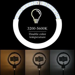 Image 2 - Anillo de luz LED para Selfie, lámpara con trípode para teléfono, estudio fotográfico, maquillaje, vídeo, 9 pulgadas/23cm