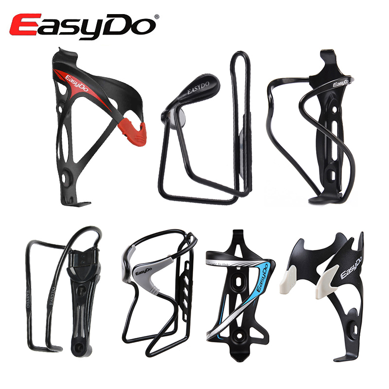 Easydo Universal Aluminum Bicycle Bottle Cages Adjustable Ultralight MTB Road Bike Drink Water Bottle Rack Cycling Cup Holder