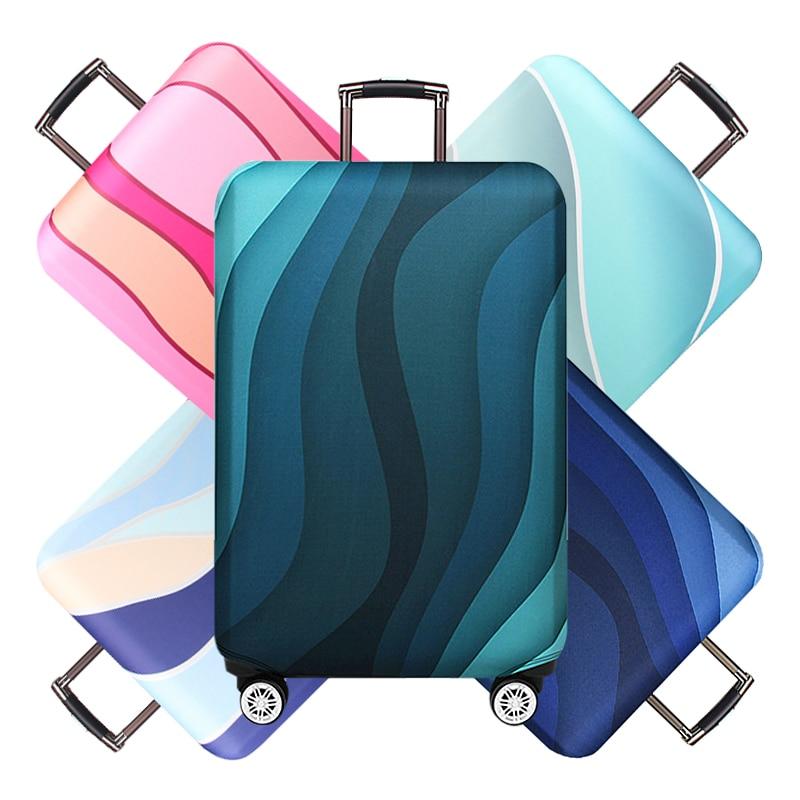 Waterproof Travel Thicken Elastic Suitcase Cover Ripple Baggage Case Luggage Dustproof Wear Trolley Accessories Supplies
