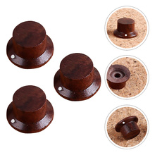 3 Pcs Rose Wood Tone Control Knobs for Electric Guitar Instrument Accessories