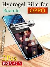 واقي شاشة الخصوصية لـ OPPO Reno 4SE 4Z ، A92S A91 A9 A9X K7X ، فيلم هيدروجيل ناعم مضاد للانعكاس Realme X50 X7 Pro V3 Q2i V5