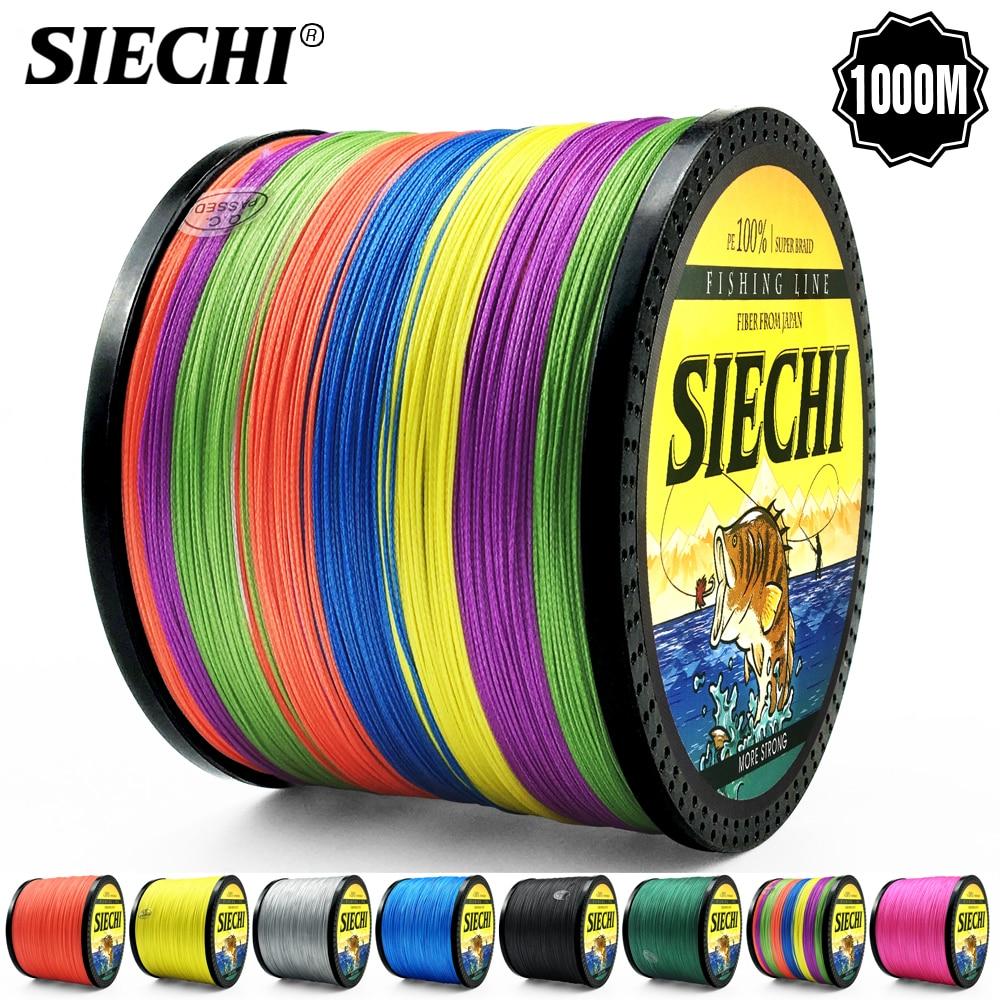 siechi marca 1000 m pe trancado linha de pesca 8 stands 20 88lb multifilament linha de