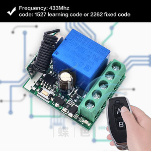 Image 4 - Remote Control 433Mhz DC 12V 1CH rf Switch Relay Receiver and Transmitter for Garage Remote Control and Remote Light Switch