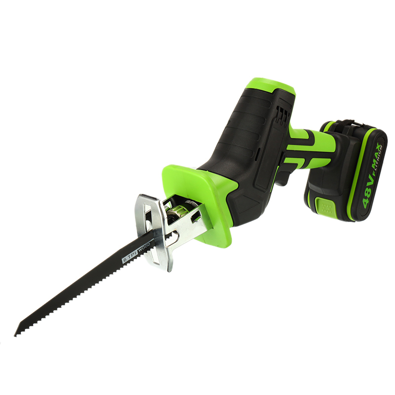 Portable 48V Cordless Reciprocating Saw Blade Battery Electric Saber Li-Ion For Wood Metal Chain Cutting Power Tool Pakistan