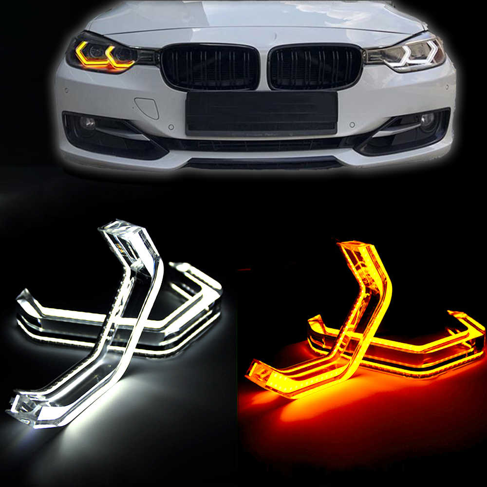 M4 Estilo Angel Eyes LED Car Light Lâmpada Running DRL Para 2 3 4 5 Série BMW E46 E60 E61F32 F33 F35 F36 E91 E92 E93 E83 E87 E88 F80