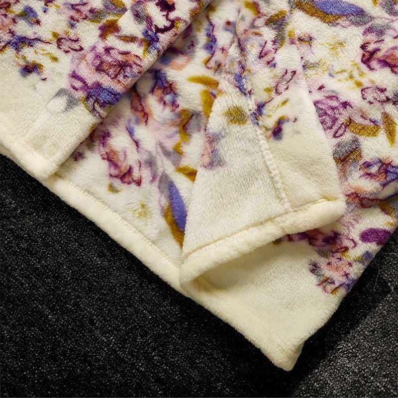 冬フランネル着物女性のバスローブサンゴのベルベットの花サッシドレッシング女性のための 2019 秋暖かい女性の家の服
