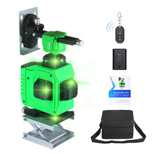 Nivel Laser Level green Powerful 12/16 Lines 3D Self-Leveling Horizontal&Vertical Cross Lines 360 Degrees Rotary Adjustment