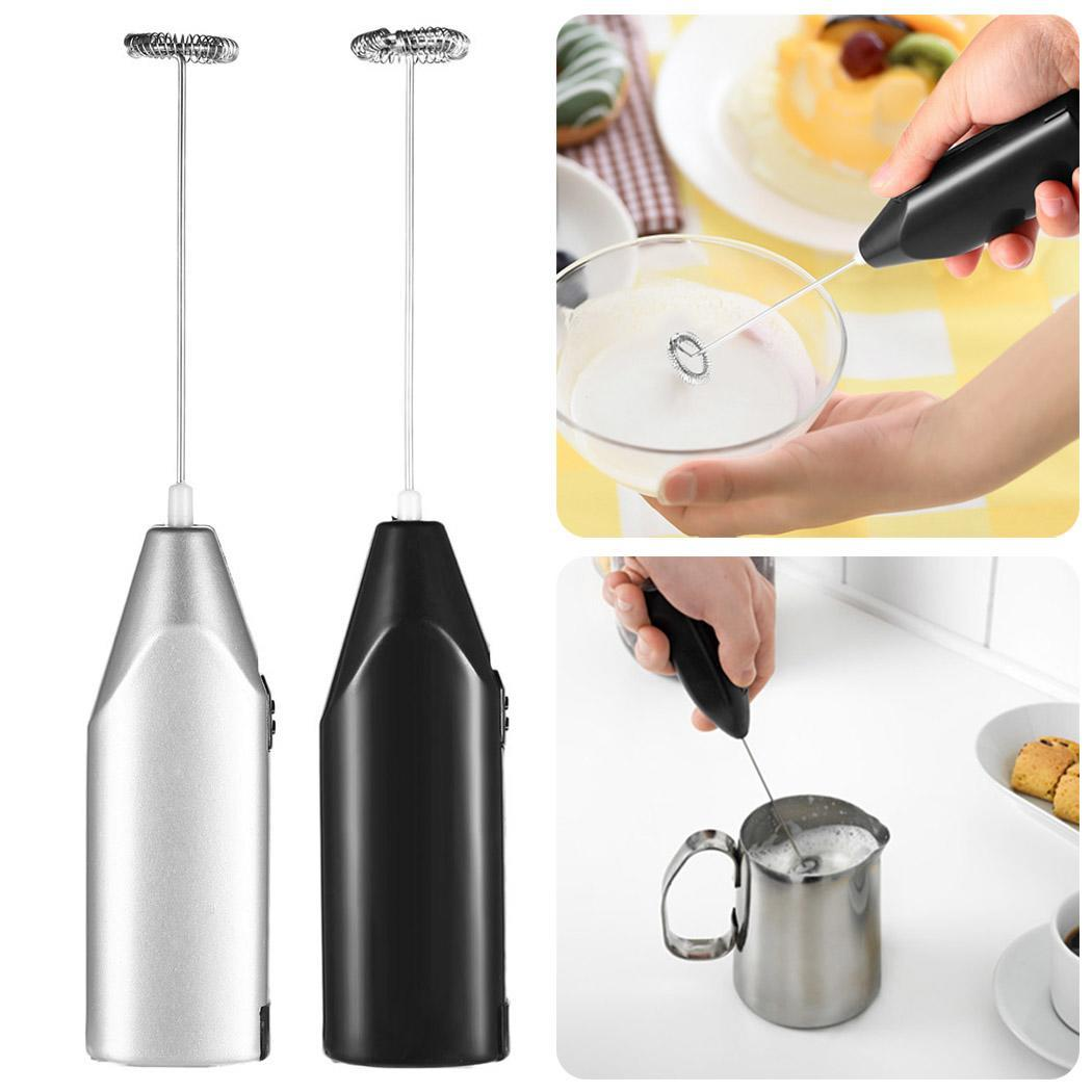 Mini Electric Coffee Blender Handheld Eggbeater Stainless Steel Milk Milker Bubble Drink Stir Bar Creative Kitchen Cooking Tools