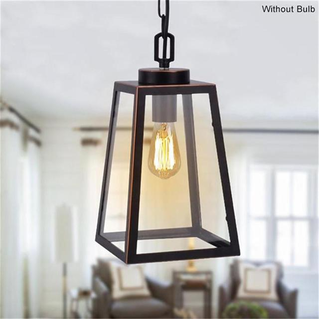 Modern Iron Art Pendant Light Hanging Cage Vintage Led Lamp Industrial Loft Retro Light Dining Room Restaurant Bar Decoration 1