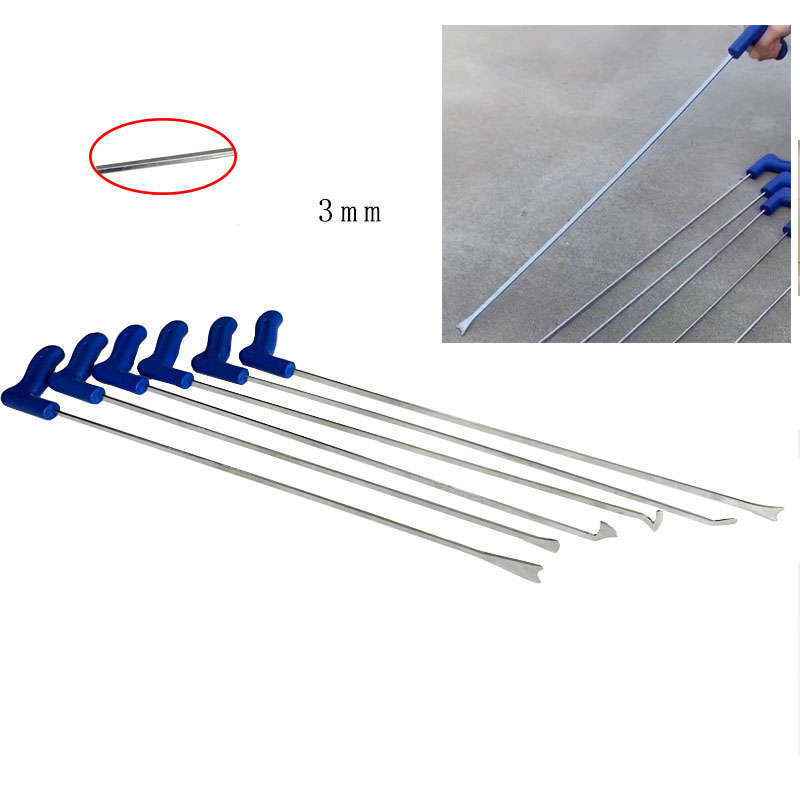 Tools : 6pcs car dent Super Whale Tails hooks Flat bar tools  Swallow tail rod car and hail dent repair paintless dent removal