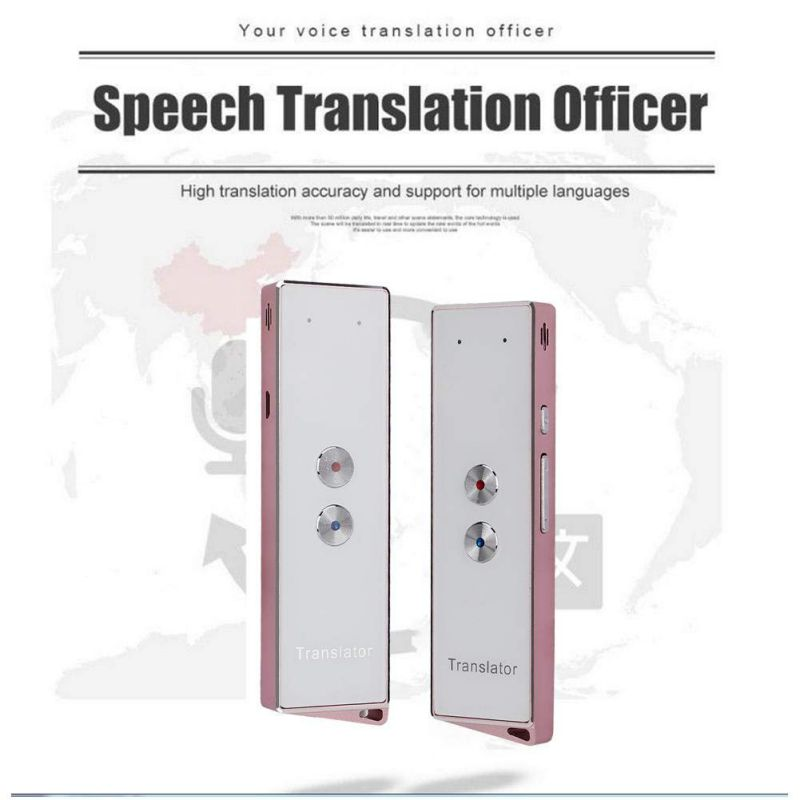 Portable T8/X9S Smart Voice Speech Translator Two-Way Real Time 30 Multi-Language Translation For Learning Travelling Business image