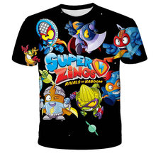 Superzings T Shirt Children Clothing Summer Short Sleeve O-neck Tshirt Super Zings Tees Baby Boys Kids Casual Cartoon Tops Tees