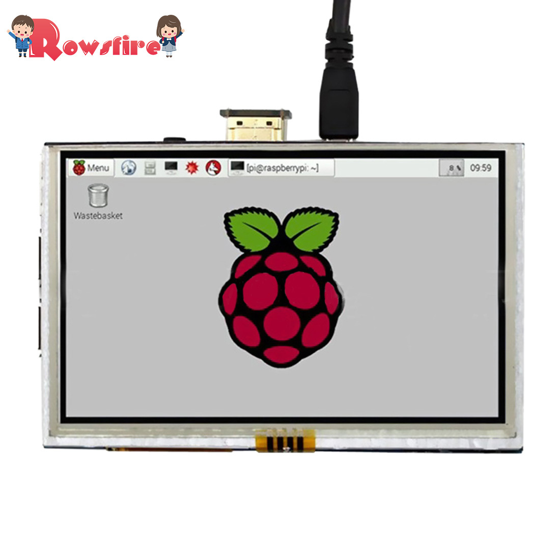 5-Inch Touch Display Screen LED Resistive Touchscreen With HDMI Adapter For Raspberry Pi 3B+/3B/2B