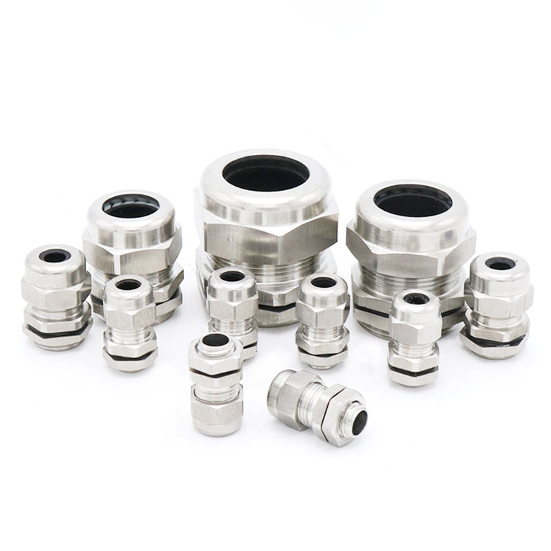 Wholesale Real Stainless Steel PG7 3.0-6.5mm Waterproof Connector Cable Gland image