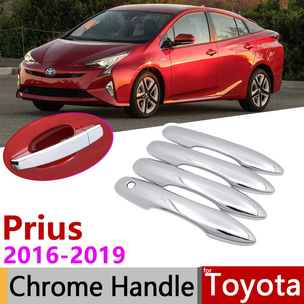 for Toyota Prius Prime 2017 2018 2019 Chrome Side Door Handle Cover Trim 4pcs