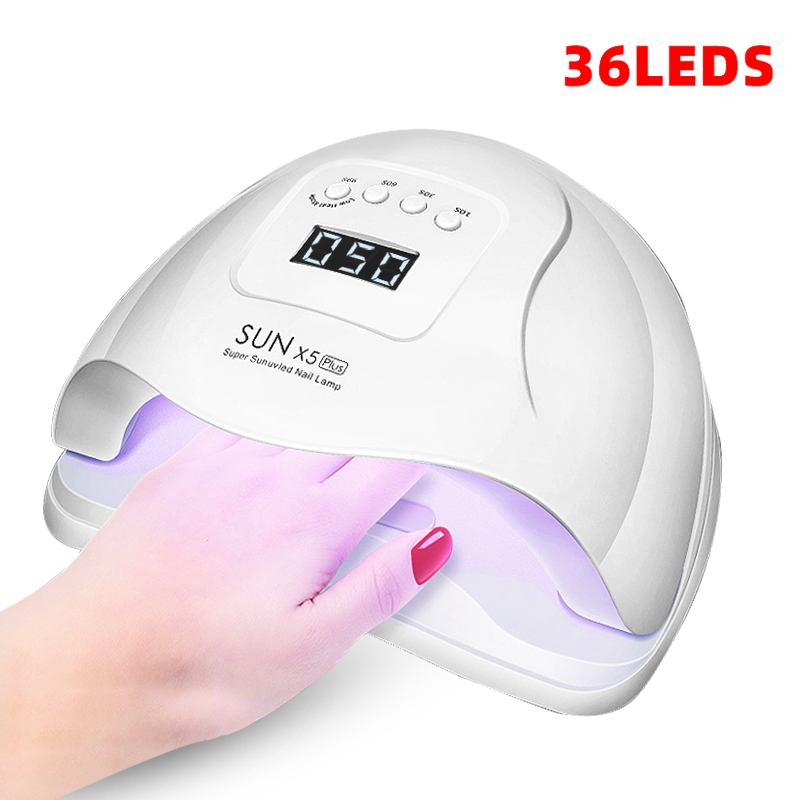 SUN X5 Plus <font><b>UV</b></font> <font><b>LED</b></font> <font><b>Lamp</b></font> For Nails Dryer 36 / 12 <font><b>LEDs</b></font> LCD Display Ice <font><b>Lamp</b></font> For Manicure Gel Nail <font><b>Lamp</b></font> Drying <font><b>Lamp</b></font> For Gel Varnis image