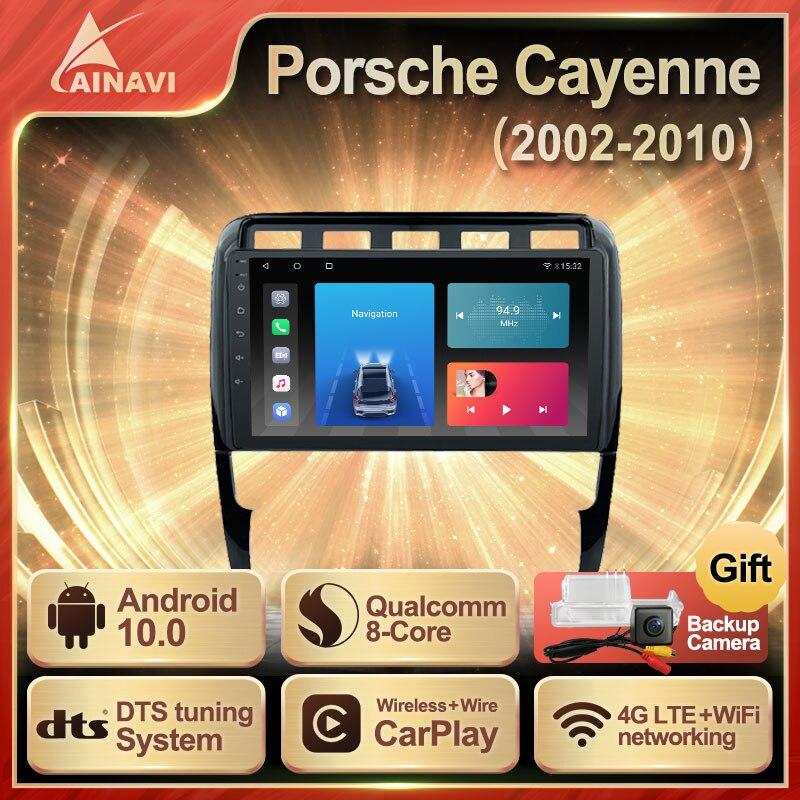Автомобильный радиоприемник Android 10 QLED экран для Porsche Cayenne 2002-2010 автомобильный стерео Мультимедийный Плеер навигация GPS Carplay DTS NO 2din