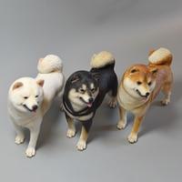 2 Models 1/6 Scale Animal Model High Imitation Pet Dog Shiba Inu Model for 12' Action Figure Body Scene Accessory