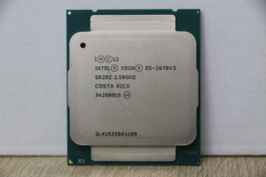 Image 2 - Processore Intel Xeon E5 2678 V3 CPU 2.5G Serve CPU LGA 2011 3 e5 2678 V3 2678V3 PC processore Desktop CPU per scheda madre X99