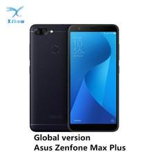 Asus zenfone smartphone max plus m1 zb570tl, telefone celular, versão global, mt6750t, 4gb ram, 64gb rom, otg, 4130mah bateria de celular