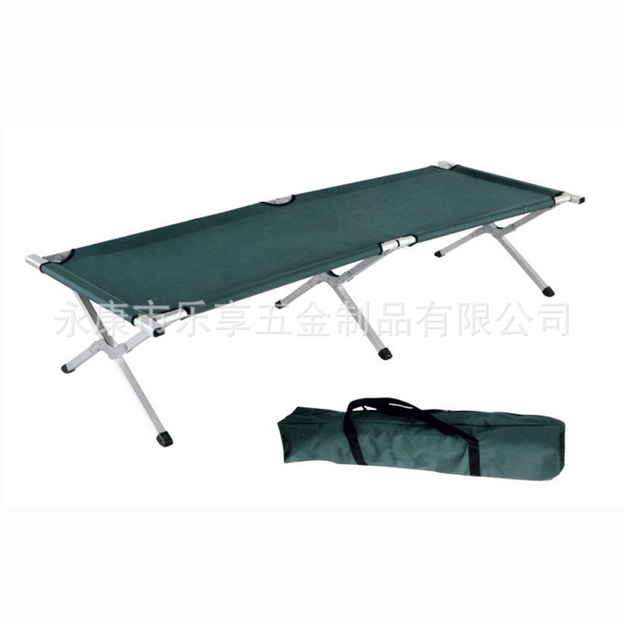 Manufacturers Supply Top Grade High Quality Aluminium Alloy Camp Bed Portable Folding Bed Customizable With Magazine Pouch Can B