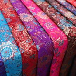 Brocade fabric beautiful fabrics with chrysanthemum pattern fabric for dress DIY