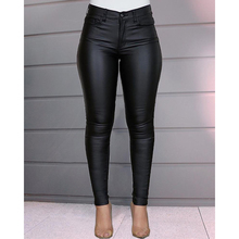 Women Solid Slim Pockets Fashion Casual Zipper Pencil Pants Office Lady All-match Streetwear European Bottming Trousers SJ5176M