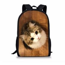 Animal Print Children's School Backpacks for Kids Boys Girls Cute Cats Print Kid