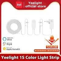 Yeelight-Tira de luces LED RGB 1S, 2 metros, 110V, 220V, Wifi, Control inteligente, funciona con asistente de Google Homekit