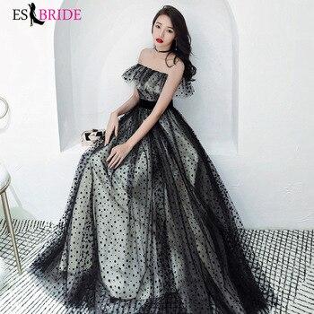 ES2709 Evening dresses long Black off the shoulder formal dress women elegant evening gowns special occasion dress evening party