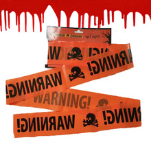 1pc Halloween Warning Caution Tape Party Danger Plastic Isolation Belt Sign Decoration