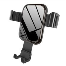 Gravity Car Phone Holder Air Vent Car Mount Tempered Glass Holder for Smartphone OUJ99 цены