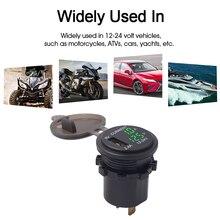 Измеритель напряжения Амперметр измеряемое напряжение: 6-38 в для автомобиля мотоцикла ATV RV SUV лодки яхты Электрический измеритель водонепроницаемый вольтметр
