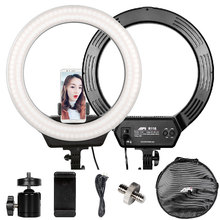 Led Ring Light Dimmable Photographic Lighting 16'' 3200-6500K 320 Led Ring Lamp Selfie For Camera Photo Studio Video Phone yidoblo pink fd 480ii studio ring light 480 led video light digital lamp photographic day lighting light standing ma 280cm