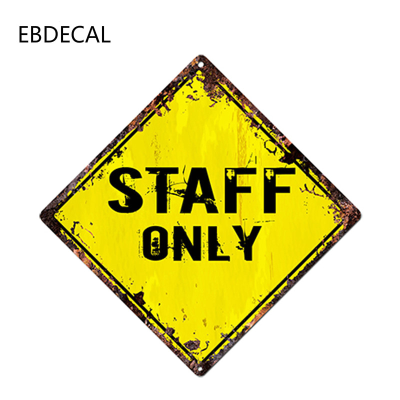 EBdecal STAFF ONLY  For Auto Car/Bumper/Window/Wall Decal Sticker Decals DIY Decor CT10924
