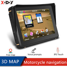 XGODY Motorrad GPS Navigation 7 Zoll HD Fahrzeug GPS 256M + 8GB Wasserdichte GPS Auto Navigation 800X480 Freies karten 2020