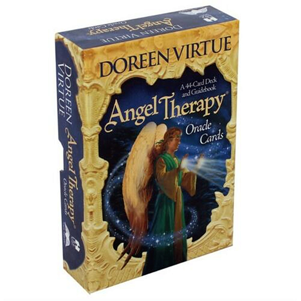 44pcs Tarot Cards Deck Game English Version Angel Therapy Oracle Tarot For Fun Game Playing Card Table Games Entertainment