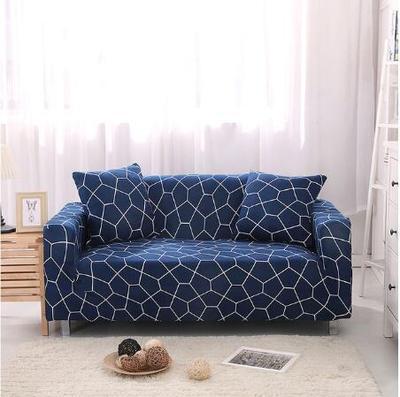 Фото разноцветный эластичный чехол для дивана универсальный