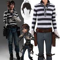 Disfraces de Cosplay de Game Identity V, traje de Cosplay para prisionero, Luke Balsa, Survivor, piel Original, Disfraces de Halloween, ropa, pelucas