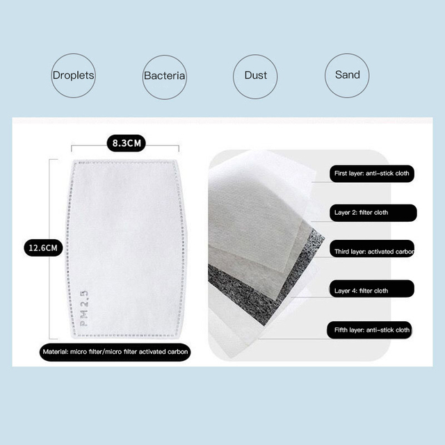 2020 New Cotton Washable Mouth Mask Anti Haze Dust Mask Nose Filter Windproof Face Muffle Bacteria Flu Fabric Cloth Respirator 2