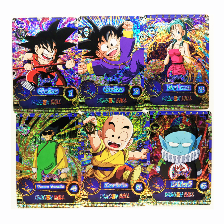 55pcs/set Super Saiyan Dragon Ball Z No.5 DIY Full role Heroes Battle Card Ultra Instinct Goku Vegeta Game Collection Cards