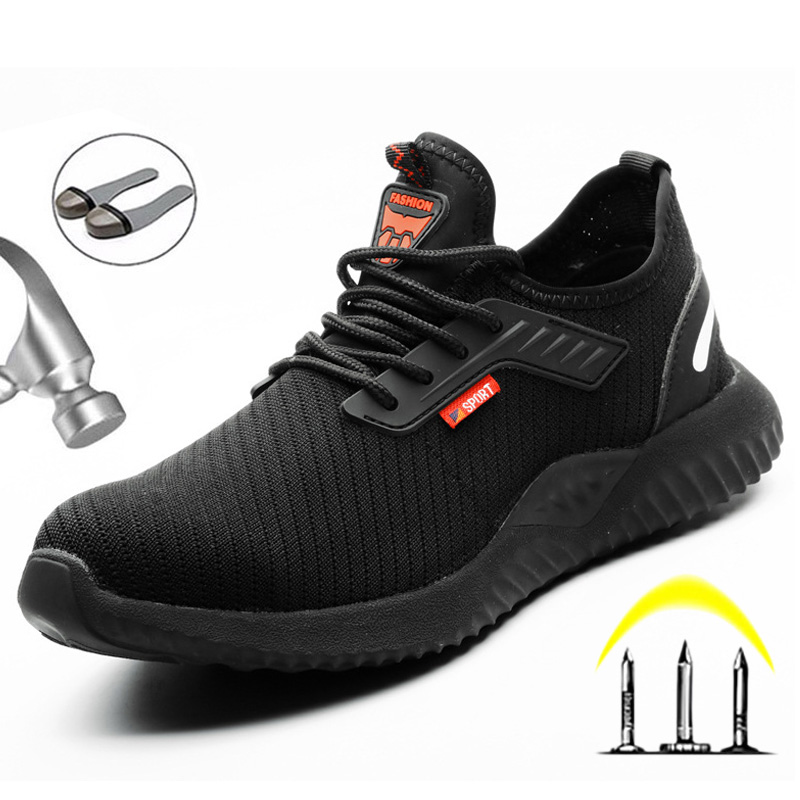 Indestructible Shoes Men Safety Work Boots Puncture-Proof Boots Safety Shoes Lightweight Work Sneakers Male Shoes Dropshipping
