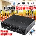CLAITE USB FM bluetooth аудио автомобильный стерео усилитель радио Hi-Fi 2-канальный цифровой дисплей усилитель мощности с пультом дистанционного управ...