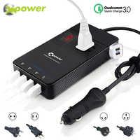 XP Car Power Inverter DC 12V to AC 220V 230V Voltage Converter with Air Purifier QC 3.0 USB Charger Auto Inversor 12 V 220 V