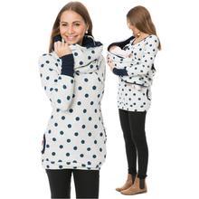 Футболки для кормящих мам свитер+ шарф куртка беременность лактация Одежда для беременных и кормящих женщин Печать с капюшоном футболка