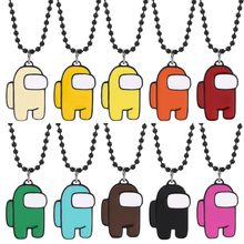 Hot Game Among Us Pendant Necklace For Women Men Metal style colorful Xmas AmongUs beads chain Gift for Boyfriends collier femme